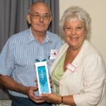 George McMillan Presenting engraved glass to Janice Al-Nasser (Show Judge) (Small)